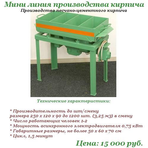 Верстат для виробництво цегли.